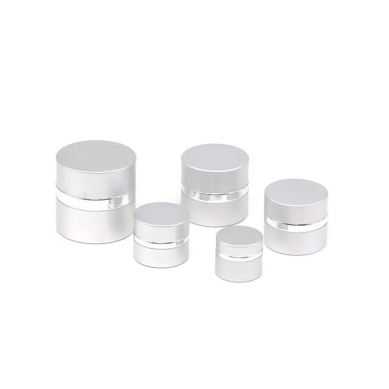 JA-3-6 series empty silver anodized aluminum cream jar Featured Image